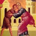 Неделя о блудном сыне. Собор святых Вселенских учителей и святителей Василия Великого, Григория Богослова и Иоанна Златоуста.
