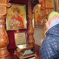 В Свято-Георгиевском храме совершена Божественная литургия с сурдопереводом. Среди гостей – чемпионка России Анна Пунтусова.