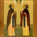 Перенесение мощей святых благоверных князя Петра и княгини Февроньи