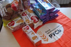 Социальный отдел Челябинской епархии и продовольственный фонд «Русь» раздали 124 продуктовых набора